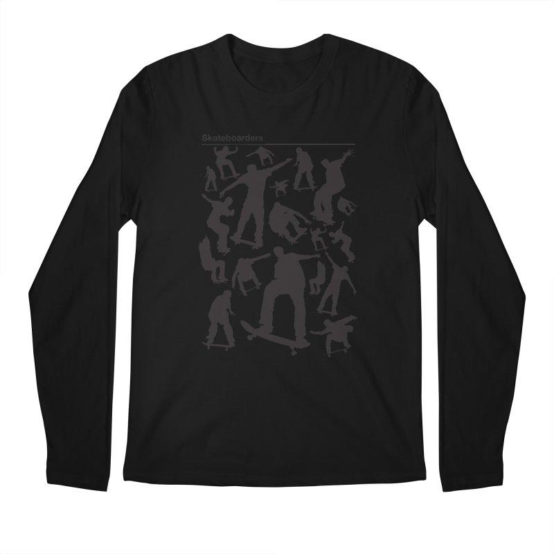 Skateboarders Men's Longsleeve T-Shirt by swarm's Artist Shop