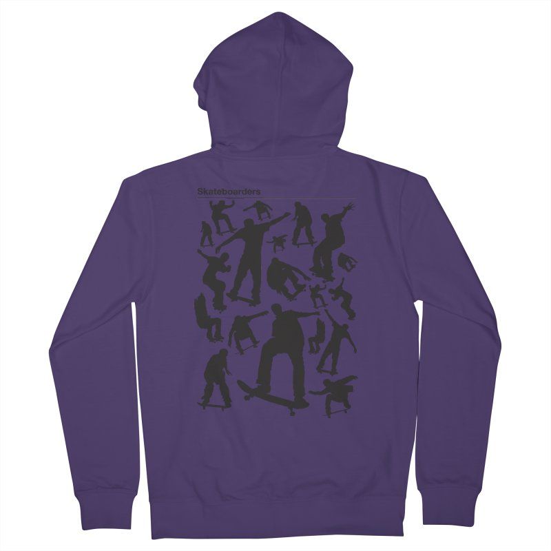 Skateboarders Women's Zip-Up Hoody by swarm's Artist Shop
