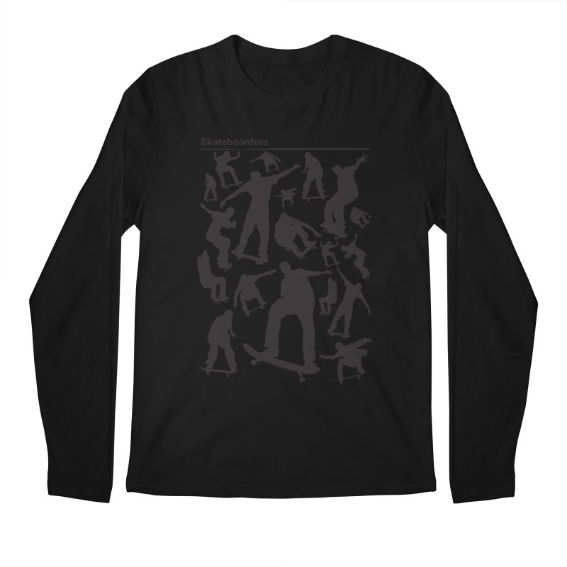 Skateboarders Men's Longsleeve T-Shirt by swarm's Artist Shop