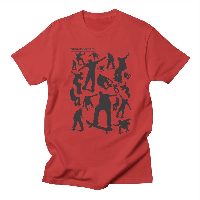Skateboarders Men's T-shirt by swarm's Artist Shop