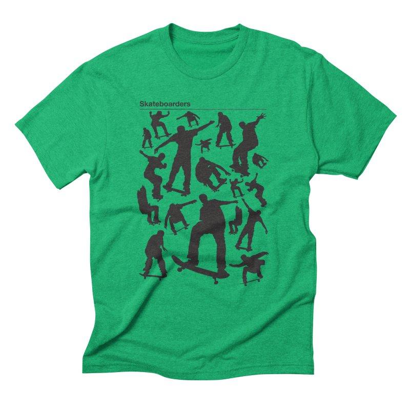 Skateboarders Men's Triblend T-shirt by swarm's Artist Shop