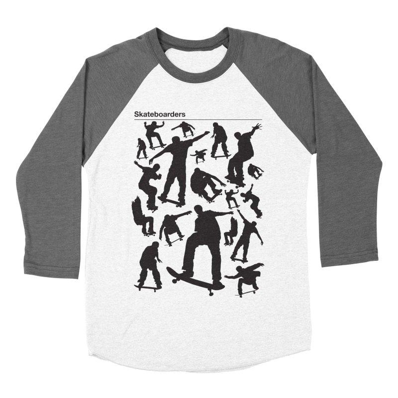 Skateboarders Women's Baseball Triblend T-Shirt by swarm's Artist Shop