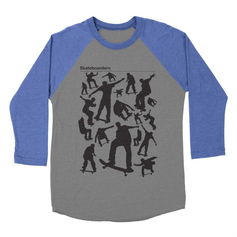 Skateboarders Men's Baseball Triblend T-Shirt by swarm's Artist Shop