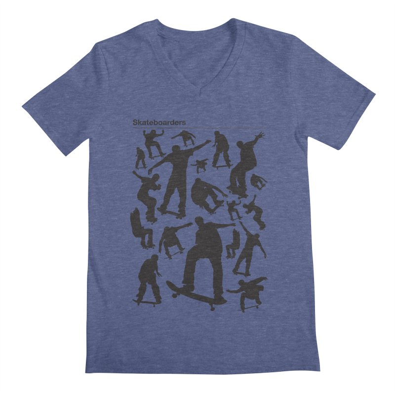 Skateboarders Men's V-Neck by swarm's Artist Shop