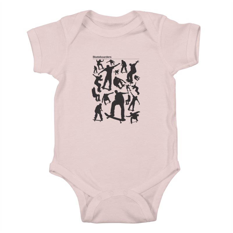 Skateboarders Kids Baby Bodysuit by swarm's Artist Shop