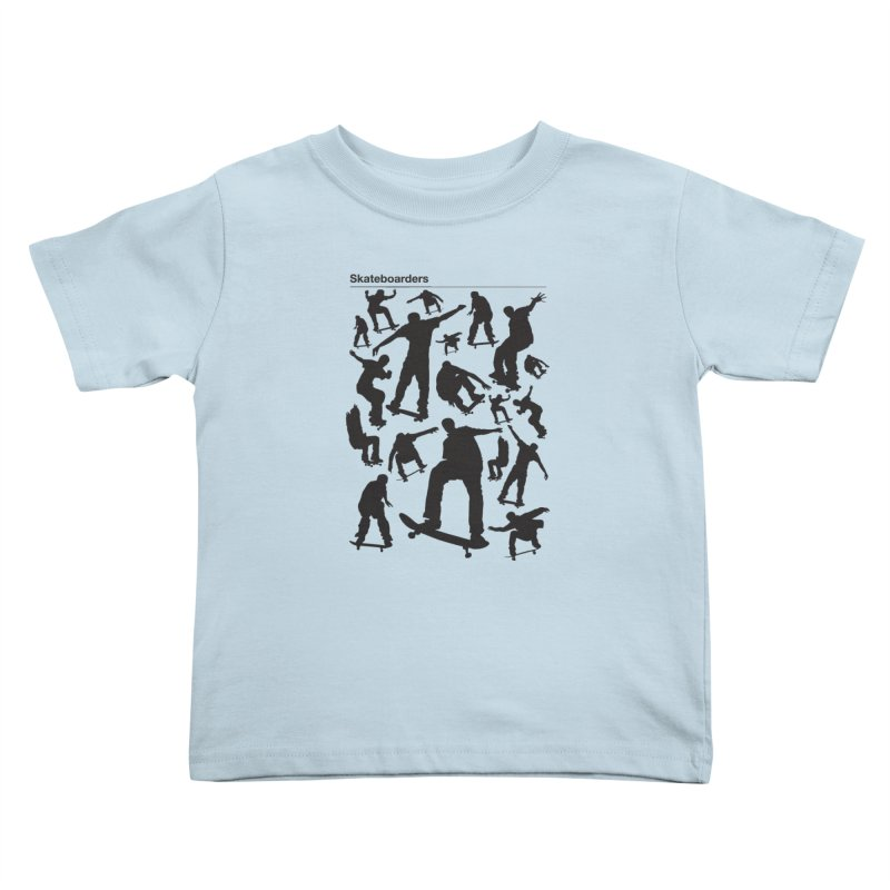 Skateboarders Kids Toddler T-Shirt by swarm's Artist Shop