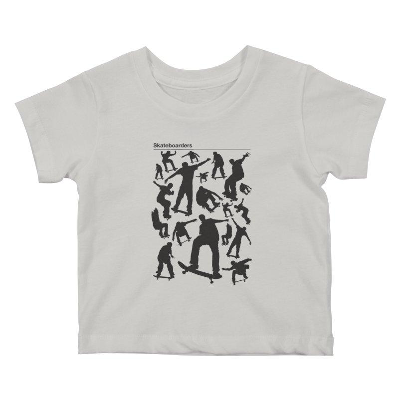 Skateboarders Kids Baby T-Shirt by swarm's Artist Shop