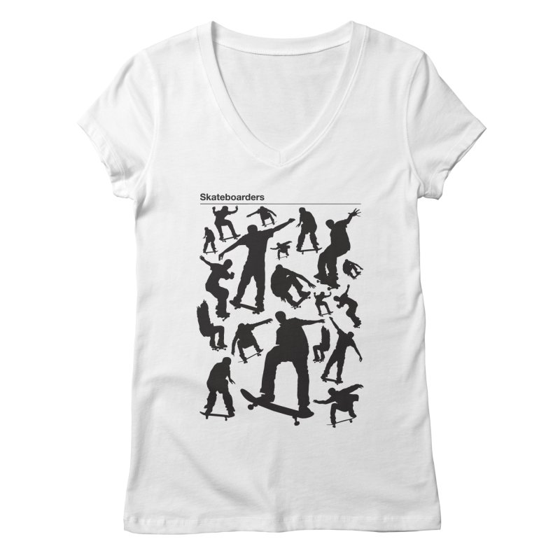 Skateboarders Women's V-Neck by swarm's Artist Shop