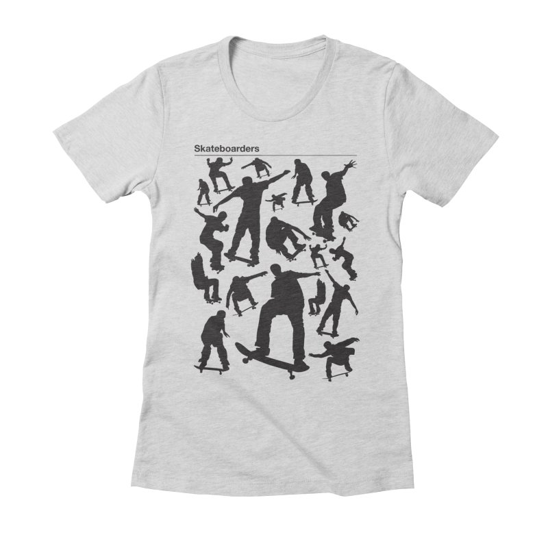 Skateboarders Women's Fitted T-Shirt by swarm's Artist Shop