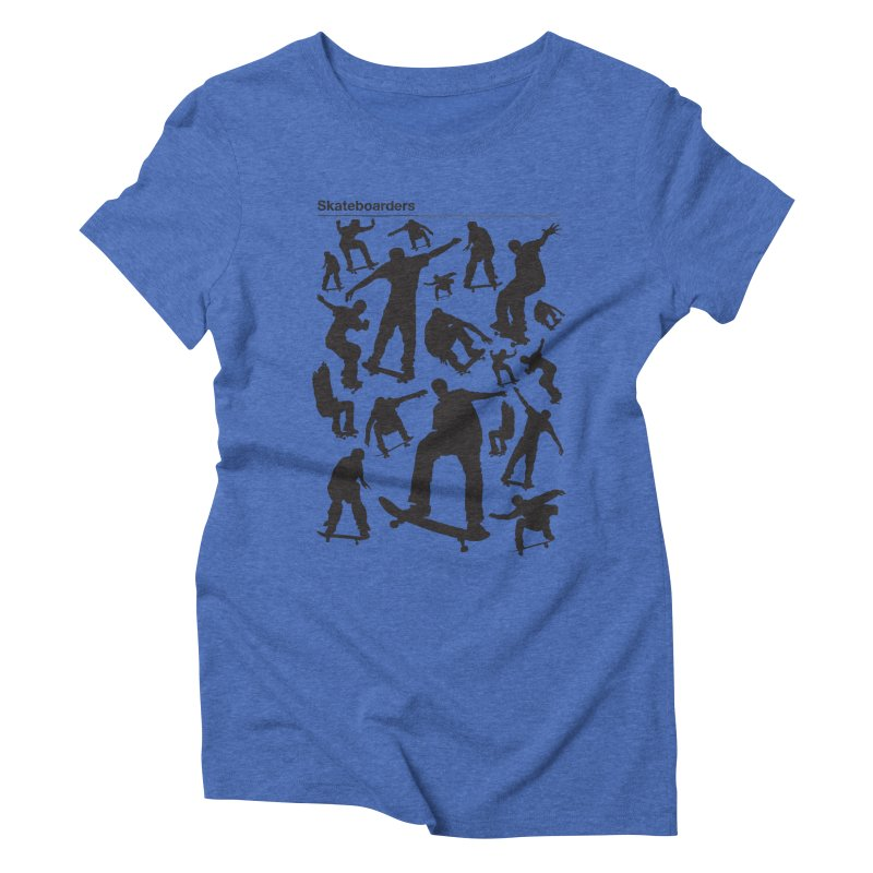 Skateboarders Women's Triblend T-shirt by swarm's Artist Shop