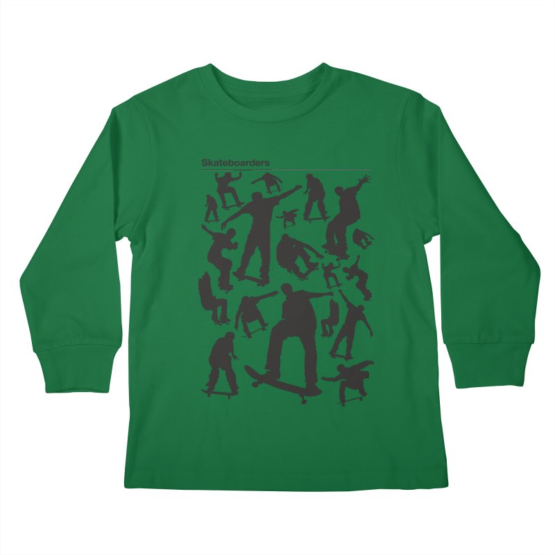 Skateboarders Kids Longsleeve T-Shirt by swarm's Artist Shop