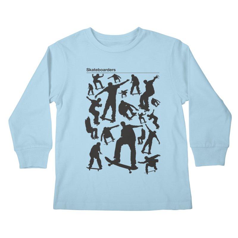 Skateboarders Kids Longsleeve T-Shirt by swarm's Artist Shop