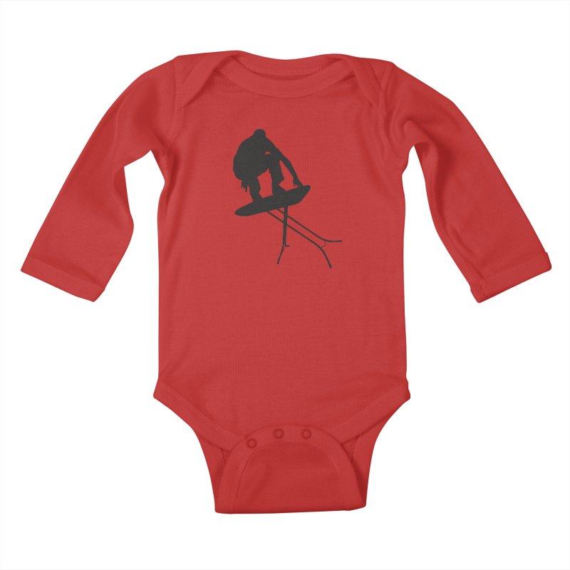 Ironboarder Kids Baby Longsleeve Bodysuit by swarm's Artist Shop