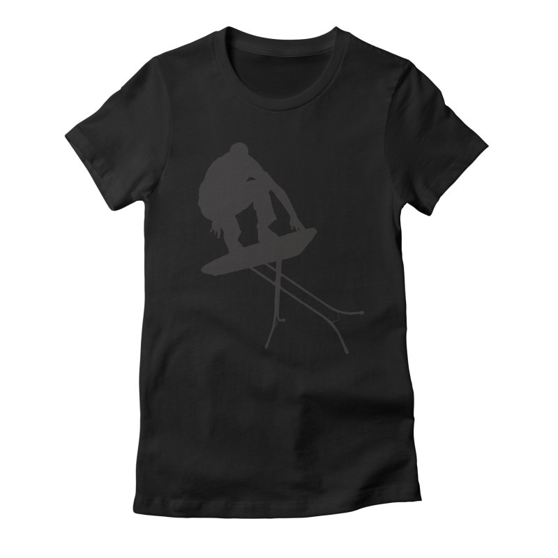Ironboarder Women's Fitted T-Shirt by swarm's Artist Shop