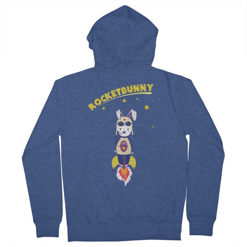 Rocket Bunny Men's Zip-Up Hoody by Swear's Artist Shop