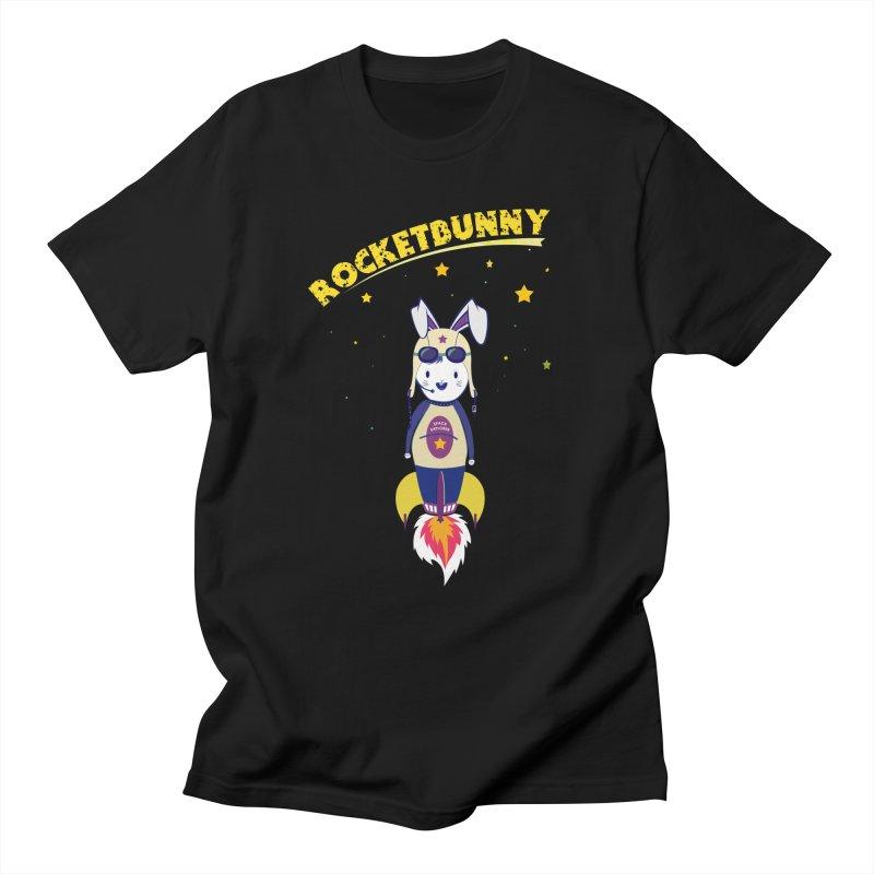 Rocket Bunny Men's T-Shirt by Swear's Artist Shop