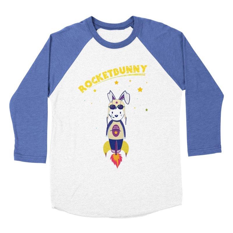 Rocket Bunny Men's Baseball Triblend T-Shirt by Swear's Artist Shop
