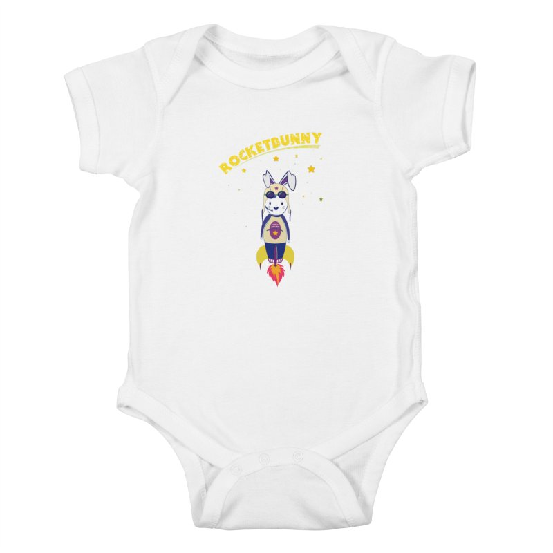 Rocket Bunny Kids Baby Bodysuit by Swear's Artist Shop