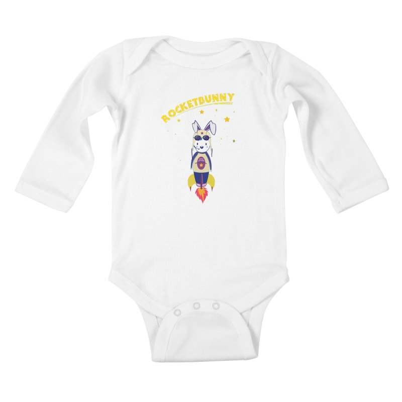 Rocket Bunny Kids Baby Longsleeve Bodysuit by Swear's Artist Shop