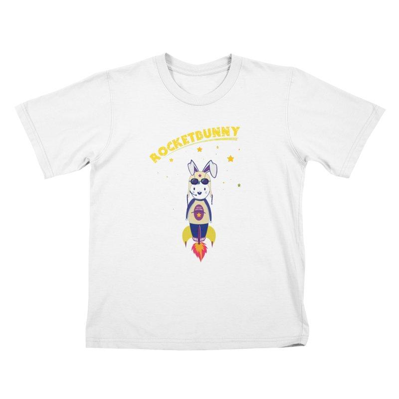 Rocket Bunny Kids T-Shirt by Swear's Artist Shop
