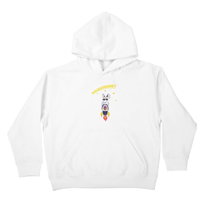 Rocket Bunny Kids Pullover Hoody by Swear's Artist Shop