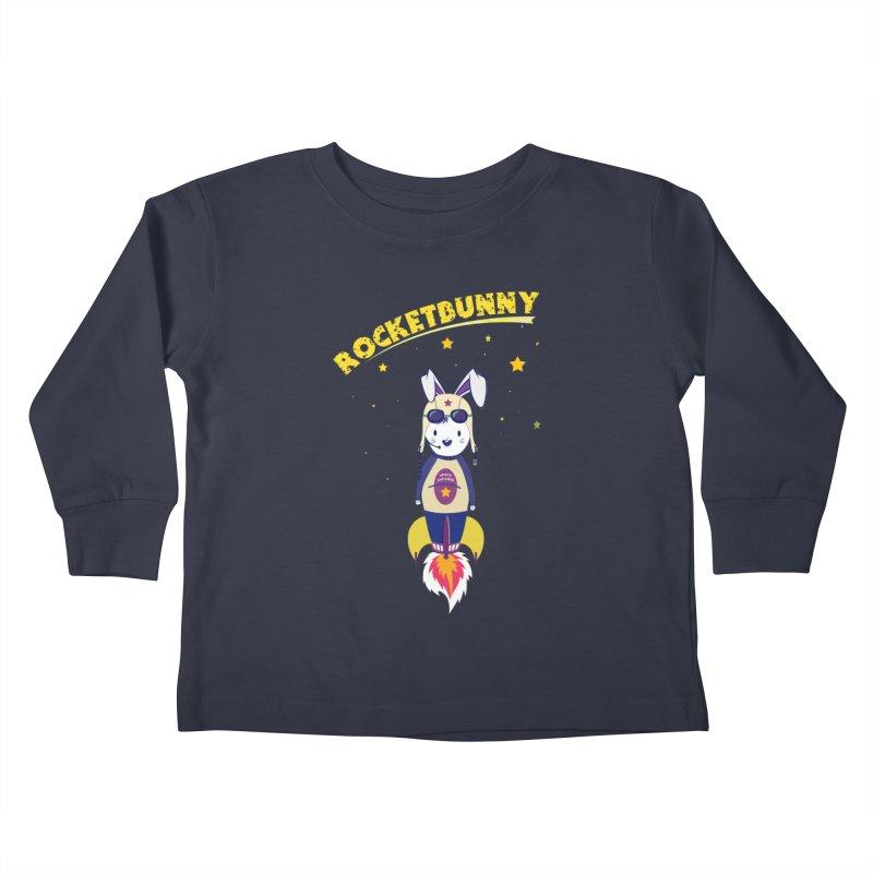 Rocket Bunny Kids Toddler Longsleeve T-Shirt by Swear's Artist Shop