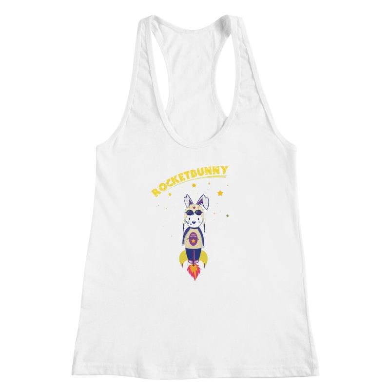 Rocket Bunny Women's Racerback Tank by Swear's Artist Shop