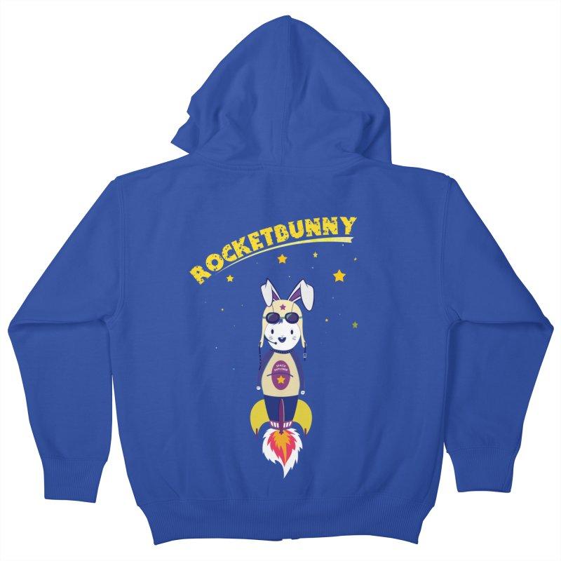 Rocket Bunny Kids Zip-Up Hoody by Swear's Artist Shop