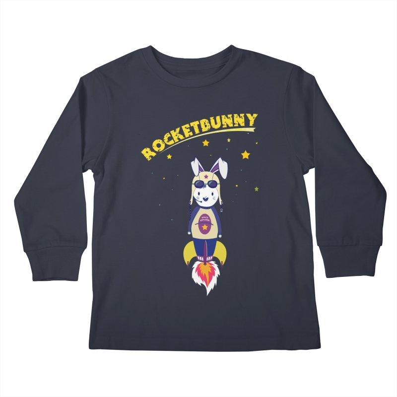 Rocket Bunny Kids Longsleeve T-Shirt by Swear's Artist Shop