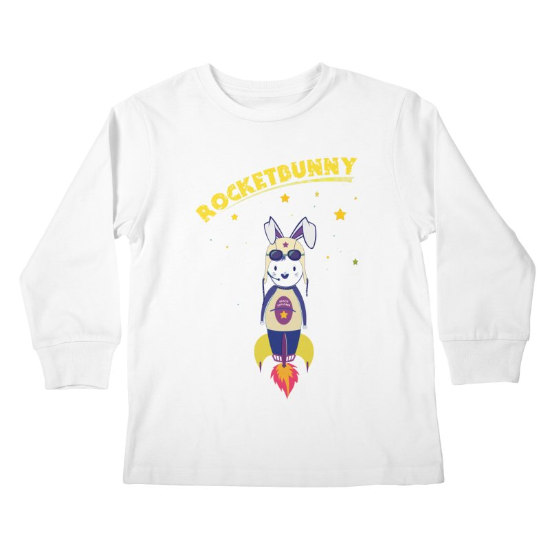 Rocket Bunny Kids Longsleeve T-Shirt by Swear's Artist Shop