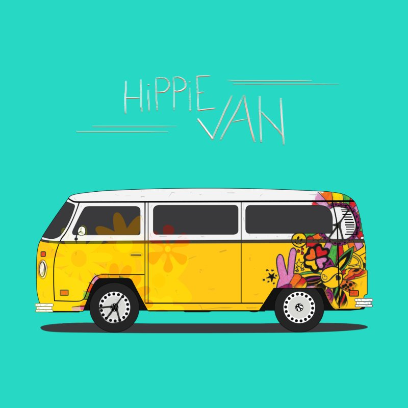 Hippie Van None  by Swear's Artist Shop