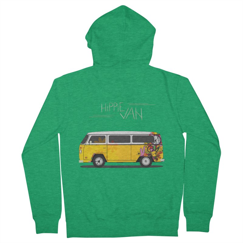 Hippie Van Women's Zip-Up Hoody by Swear's Artist Shop