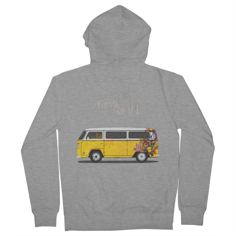 Hippie Van Men's Zip-Up Hoody by Swear's Artist Shop