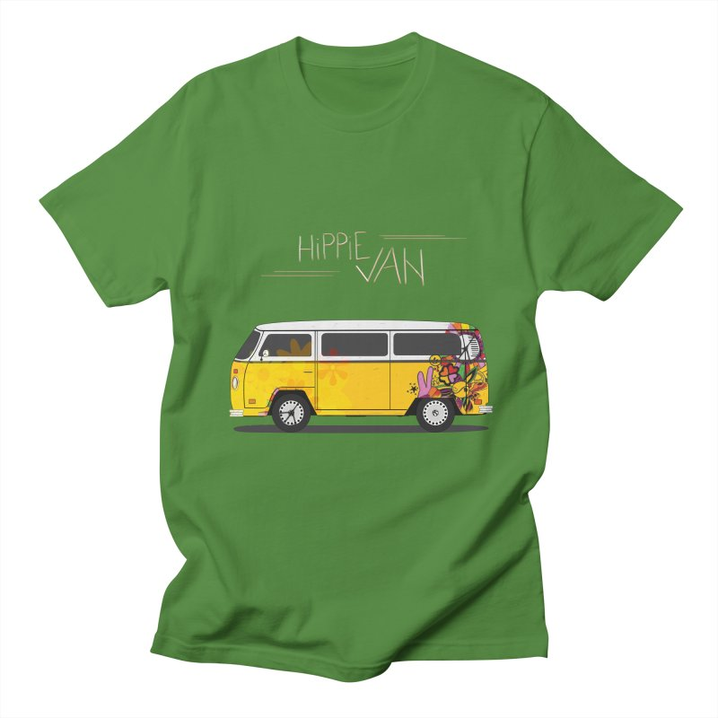 Hippie Van Men's T-Shirt by Swear's Artist Shop