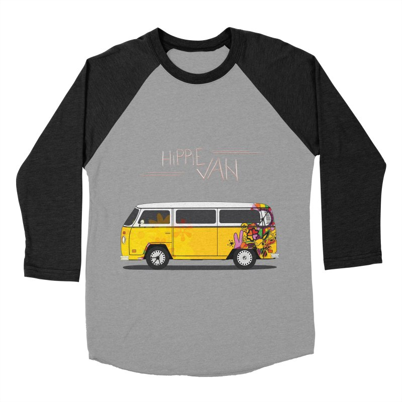 Hippie Van Women's Baseball Triblend T-Shirt by Swear's Artist Shop