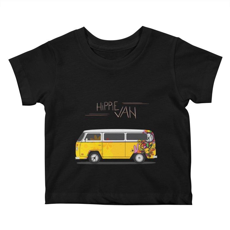 Hippie Van Kids Baby T-Shirt by Swear's Artist Shop