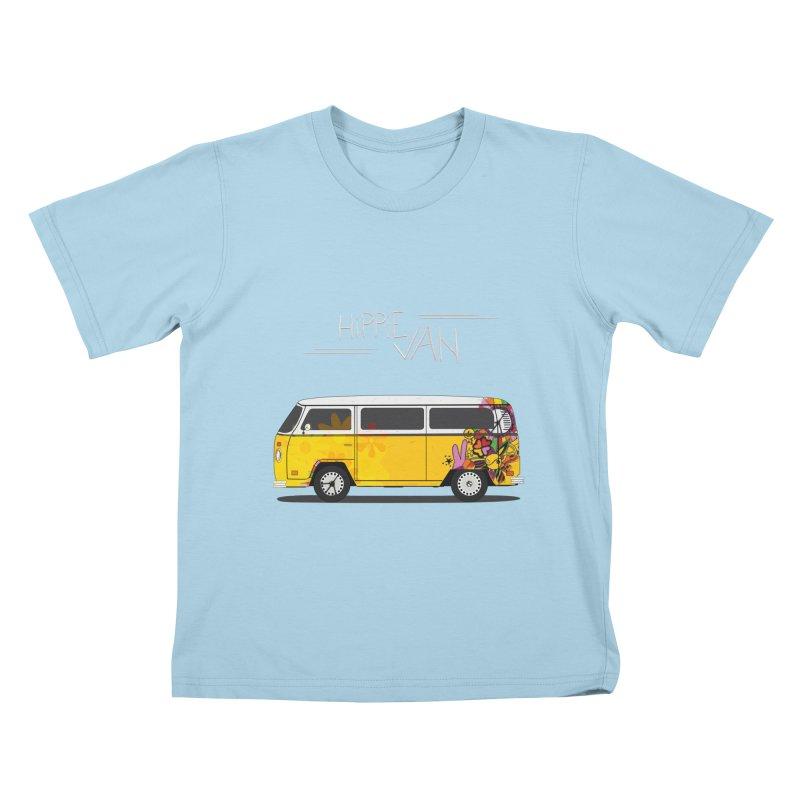 Hippie Van Kids T-shirt by Swear's Artist Shop