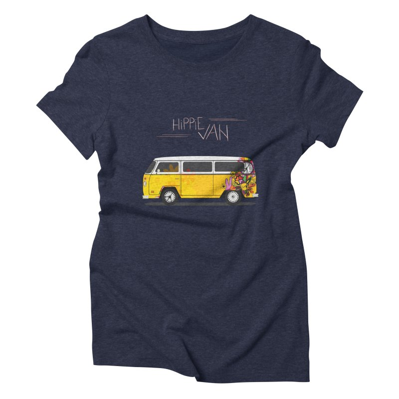 Hippie Van Women's Triblend T-Shirt by Swear's Artist Shop