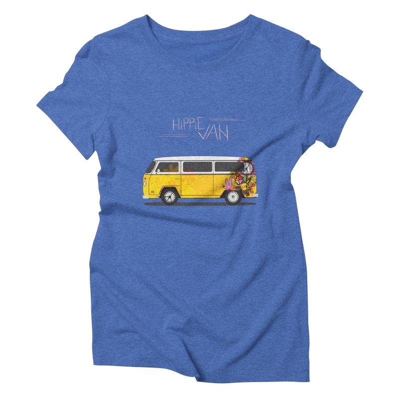 Hippie Van Women's Triblend T-shirt by Swear's Artist Shop