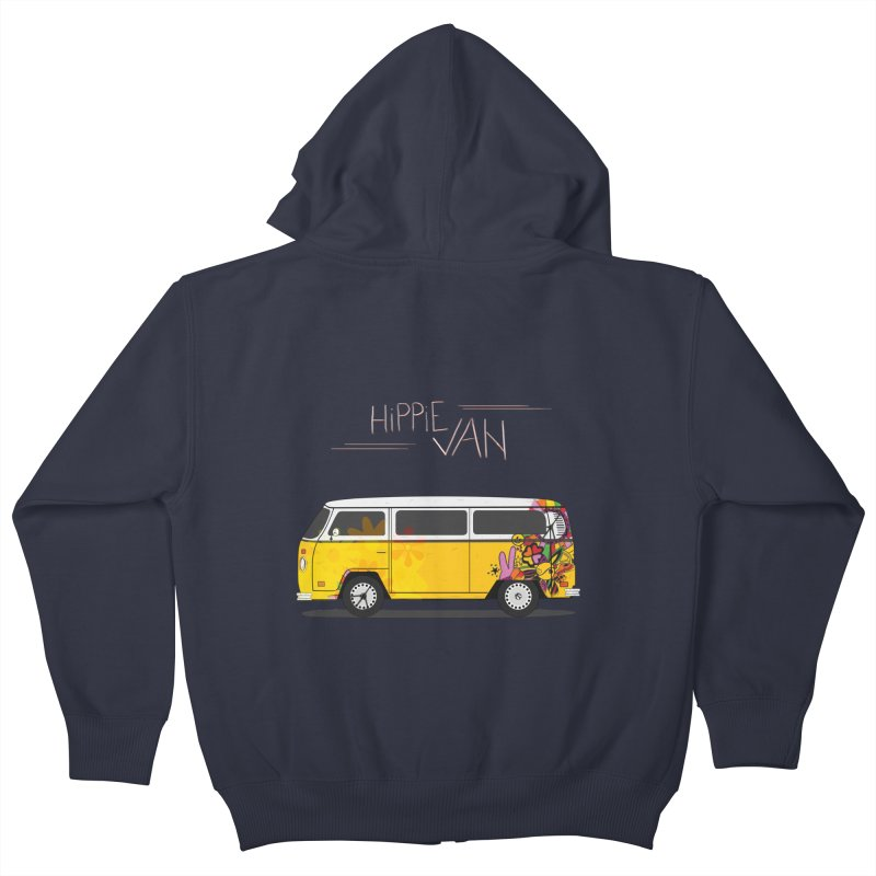 Hippie Van Kids Zip-Up Hoody by Swear's Artist Shop