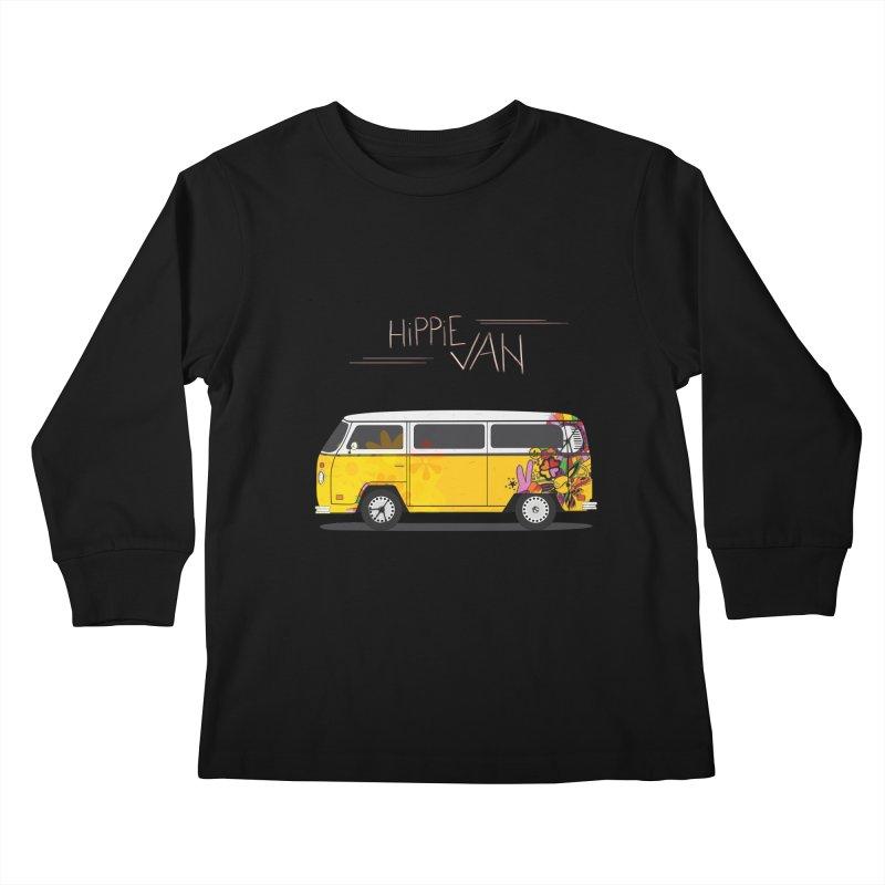 Hippie Van Kids Longsleeve T-Shirt by Swear's Artist Shop