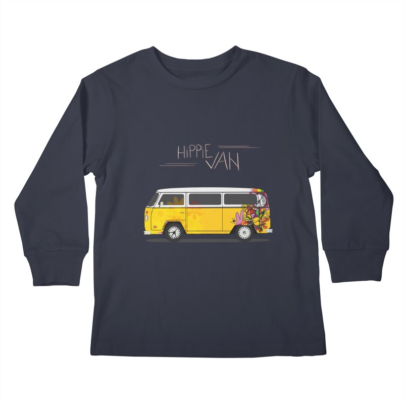 Hippie Van Kids Longsleeve T-Shirt by Swear's Artist Shop