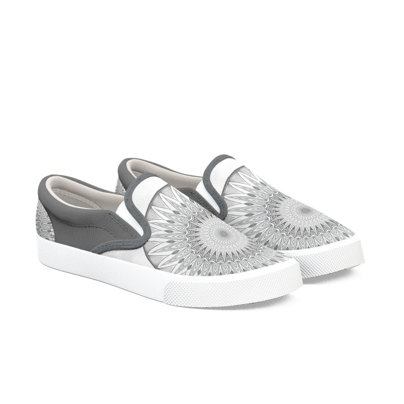Fuck Mandala Women's Slip-On Shoes by Swearing Pattern Shoes