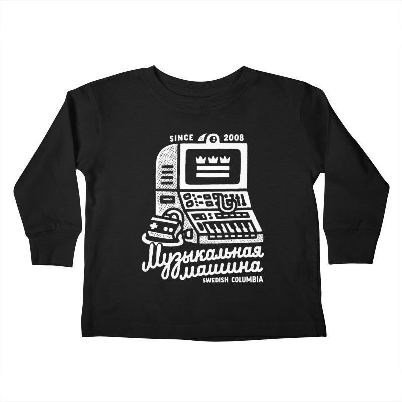 Swedish Columbia Music Machine Kids Toddler Longsleeve T-Shirt by Swedish Columbia's Artist Shop