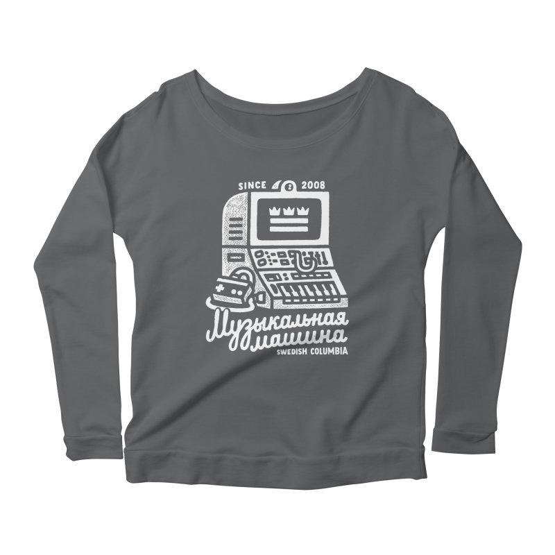Swedish Columbia Music Machine Women's Scoop Neck Longsleeve T-Shirt by Swedish Columbia's Artist Shop