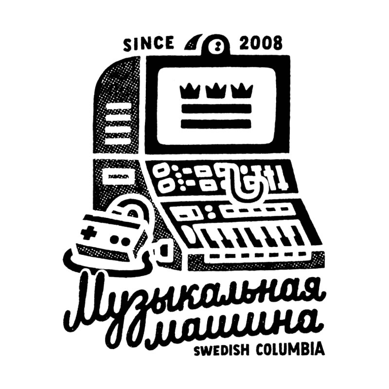 Swedish Columbia Music Machine 2 Men's T-Shirt by Swedish Columbia's Artist Shop