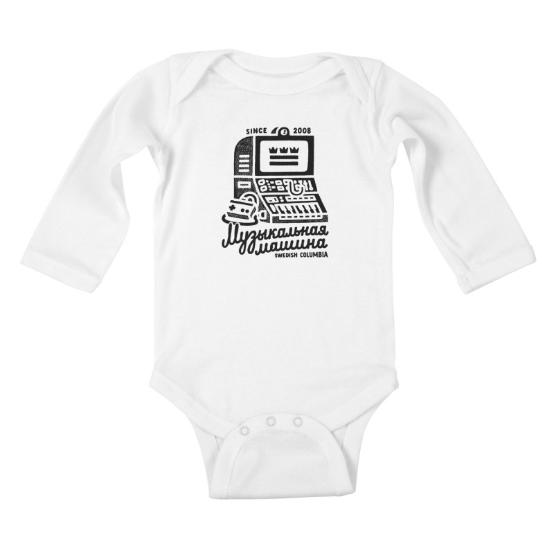 Swedish Columbia Music Machine 2 Kids Baby Longsleeve Bodysuit by Swedish Columbia's Artist Shop