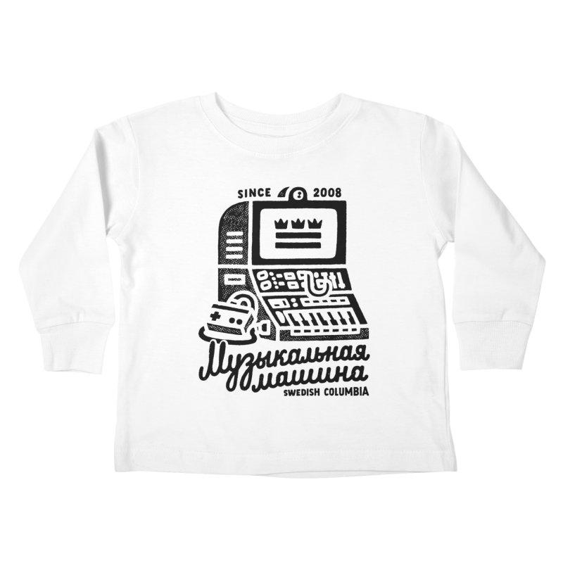 Swedish Columbia Music Machine 2 Kids Toddler Longsleeve T-Shirt by Swedish Columbia's Artist Shop