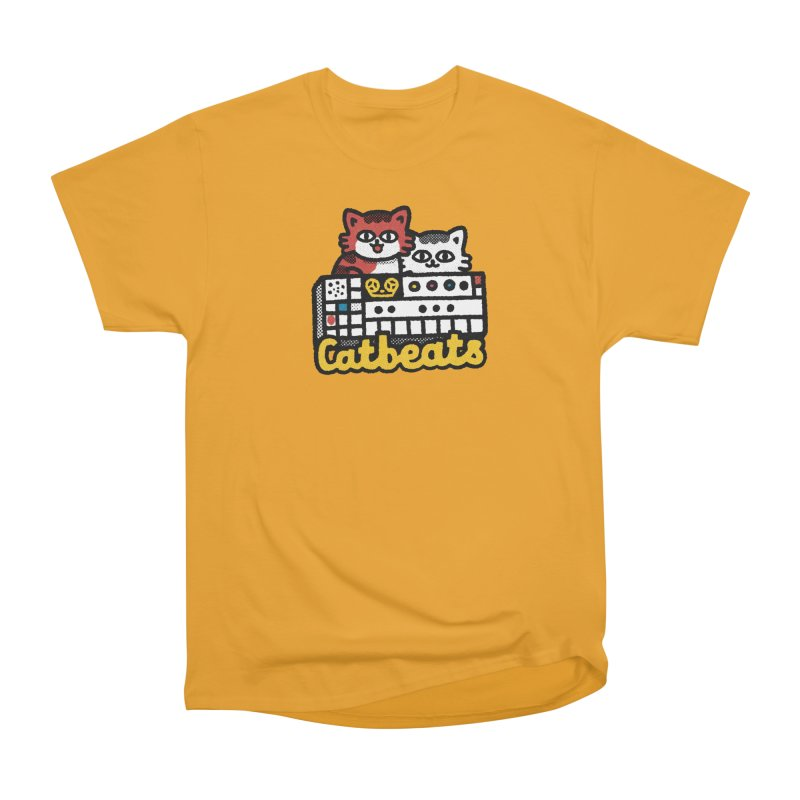 Catbeats Men's Heavyweight T-Shirt by Swedish Columbia's Artist Shop