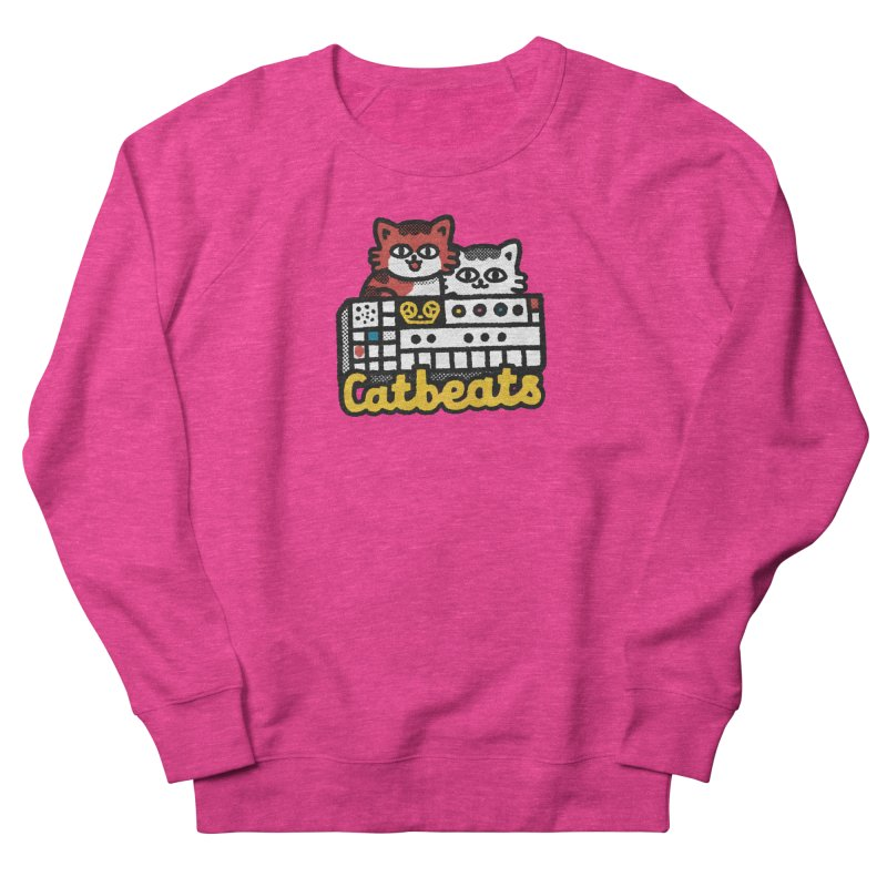 Catbeats Women's French Terry Sweatshirt by Swedish Columbia's Artist Shop